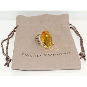 David Yurman Wheaton Ring 26x16 Lemon Citrine